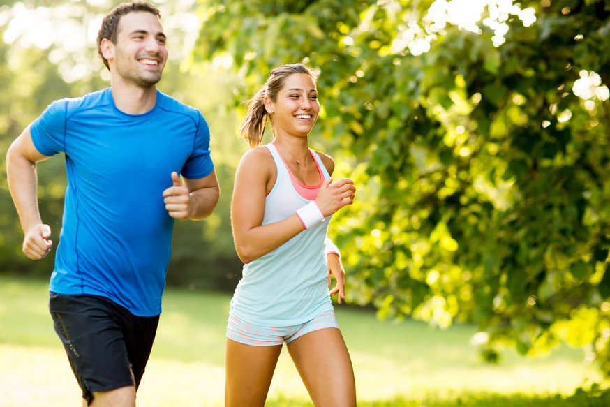 Бег и прогулка для счастья